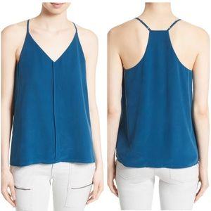 Joie // team blue silk asier tank camisole blouse